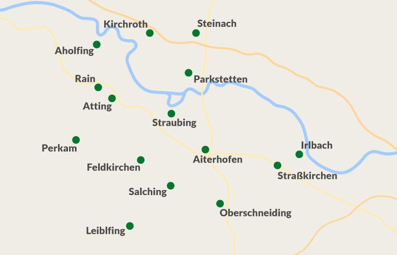Einzugsgebiet Straubing